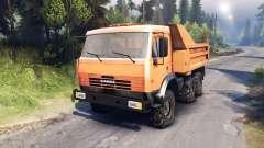 KamAZ-6520 vidage du camion 6x6