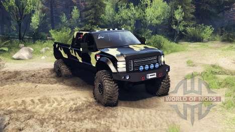 Ford F-350 Super Duty 6.8 2008 v0.1.0 camo für Spin Tires