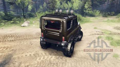 UAZ-chasseur 315195 pour Spin Tires