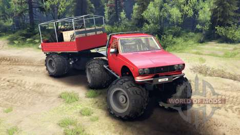 Toyota Hilux Truggy v1.0 wheels2 für Spin Tires