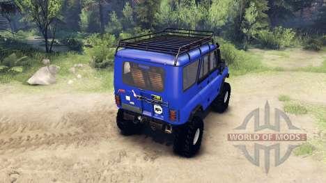 UAZ-469 Kommandant für Spin Tires