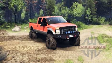 Ford F-350 Super Duty 6.8 2008 v0.1.0 orange für Spin Tires