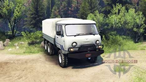 UAZ-3909 6x6 pour Spin Tires