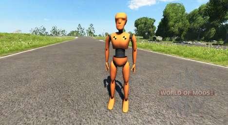 Der dummy für crash-tests für BeamNG Drive