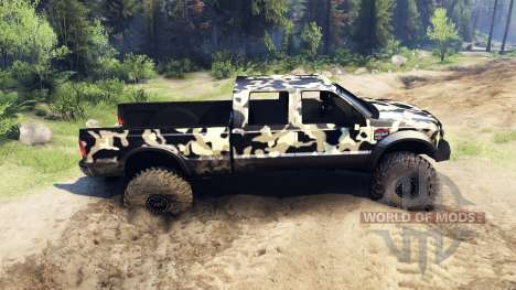 Ford F-350 Super Duty 6.8 2008 v0.1.0 camo2 für Spin Tires