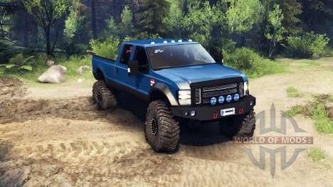 Ford F-350 Super Duty 6.8 2008 v0.1.0 blue für Spin Tires