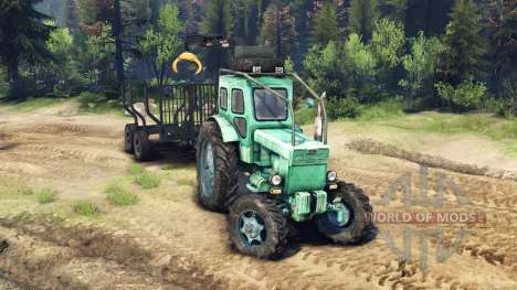 Tracteur T-IM v1.1 vert pour Spin Tires