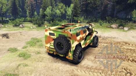 Die GAZ-2975 Tiger camo für Spin Tires