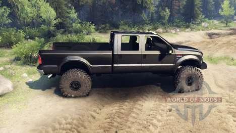 Ford F-350 Super Duty 6.8 2008 v0.1.0 black pour Spin Tires