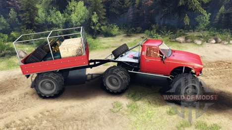 Toyota Hilux Truggy v1.0 wheels2 pour Spin Tires