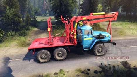 Rot-blau-Färbung auf der Ural-4320 für Spin Tires
