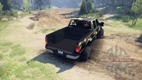 Ford F-350 Super Duty 6.8 2008 v0.1.0 camo für Spin Tires
