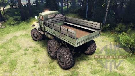 KRAZ-255 6x6 für Spin Tires