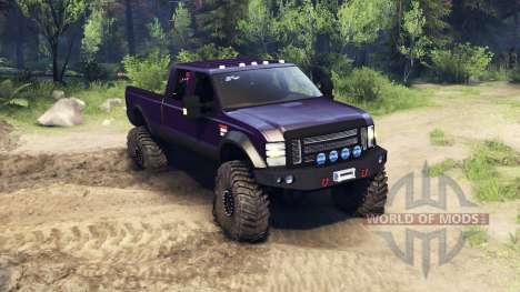 Ford F-350 Super Duty 6.8 2008 v0.1.0 purple pour Spin Tires