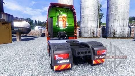 Couleur-Jagermeister - sur le camion MAN TGX pour Euro Truck Simulator 2