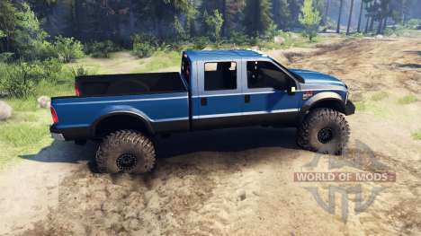 Ford F-350 Super Duty 6.8 2008 v0.1.0 blue pour Spin Tires