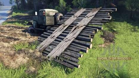Bewegliche Brücke für Spin Tires