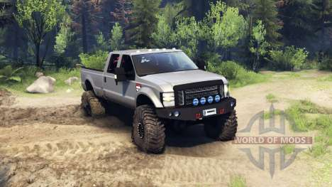 Ford F-350 Super Duty 6.8 2008 v0.1.0 silver pour Spin Tires