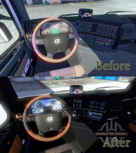 Neue Interieur des Volvo für Euro Truck Simulator 2