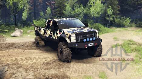 Ford F-350 Super Duty 6.8 2008 v0.1.0 camo2 pour Spin Tires