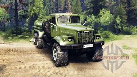KrAZ-255B AC 8.5 Brennbaren v2.7 für Spin Tires