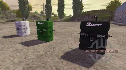 Contrairement à 800 kg pour Farming Simulator 2013