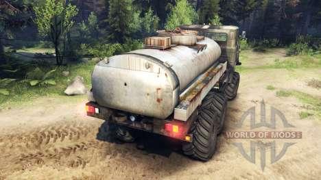 KamAZ GAZ 6x6 pour Spin Tires
