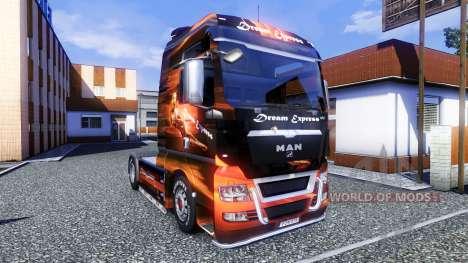 Farbe-Dream Express - LKW MAN TGX für Euro Truck Simulator 2
