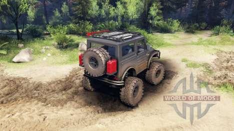 Suzuki Samurai LJ880 dirty black pour Spin Tires