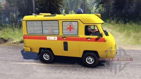 UAZ 2925 AUTOS für Spin Tires