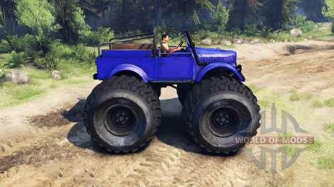 ГАЗ-69М Blue Monster für Spin Tires