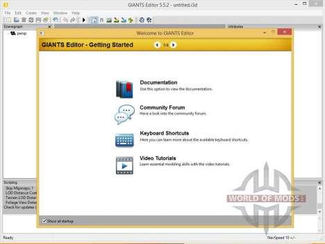 GIANTS Editor v5.5.2 64bit pour Farming Simulator 2013