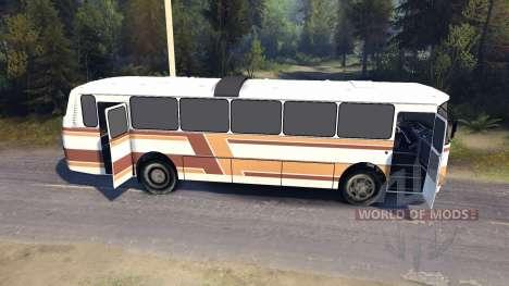 ЛАЗ-699Р orange-bandes marron pour Spin Tires