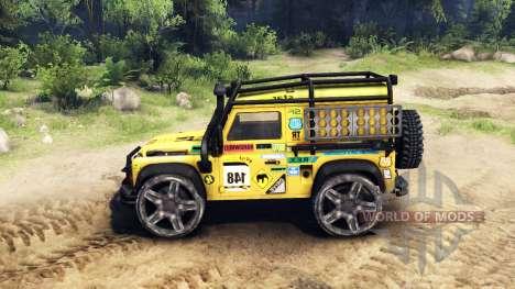 Land Rover Defender 90 v2.0 pour Spin Tires