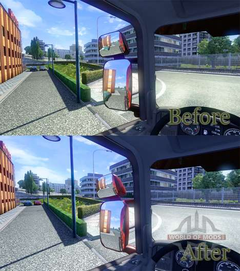 Miroirs pour Scania pour Euro Truck Simulator 2