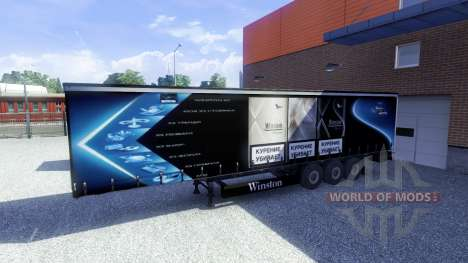 Skins-Winston & Coca Cola - Anhänger für Euro Truck Simulator 2