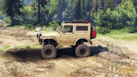 Suzuki Samurai LJ880 dirty desert tan pour Spin Tires