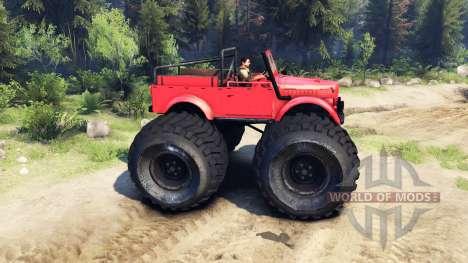 ГАЗ-69М Red Monster für Spin Tires