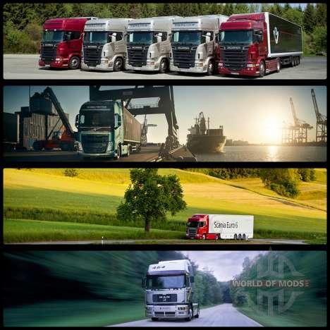 Les écrans de démarrage v2 pour Euro Truck Simulator 2