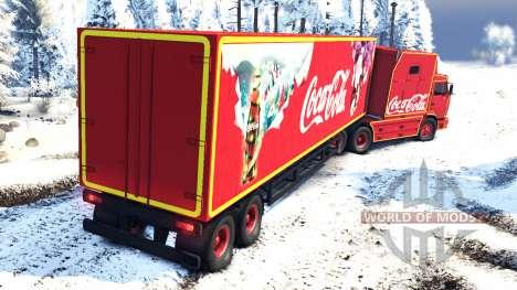 KamAZ 54112 manger de Noël sans guirlandes pour Spin Tires