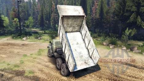 Le corps du camion sur l'Oural pour Spin Tires