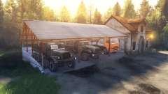 Die Schuppen und das Haus anstelle der garage