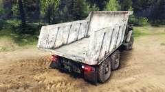 Le corps du camion sur l'Oural
