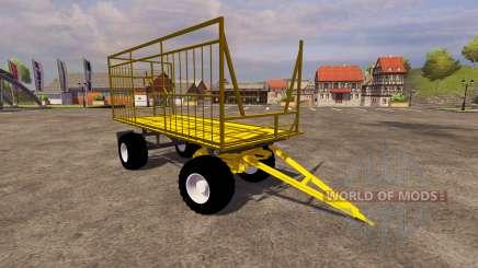 Jaune remorque pour Farming Simulator 2013