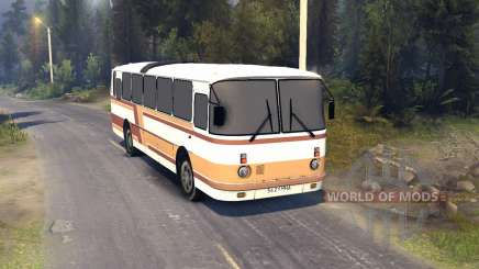 ЛАЗ-699Р orange-braune Streifen für Spin Tires
