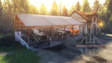 Die Schuppen und das Haus anstelle der garage für Spin Tires