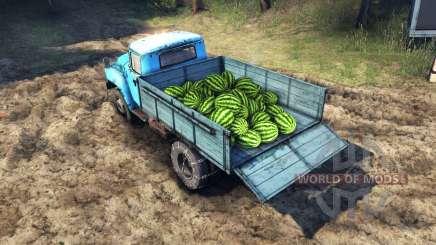 La charge de pastèques et des pierres pour Spin Tires
