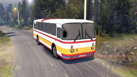 ЛАЗ-699Р rot-orange Streifen für Spin Tires