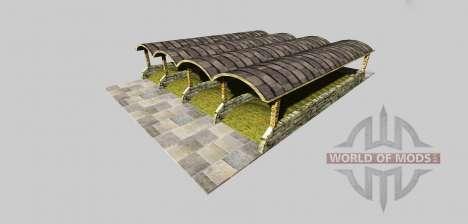 Fosse d'ensilage avec une canopée de la v3.2 pour Farming Simulator 2013