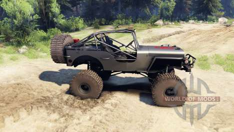 Jeep Willys black pour Spin Tires